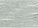 Silver Metallic Glass Seed Beads - 11/0 (SB141)
