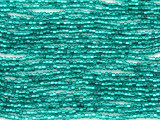 Teal Silver Line Glass Seed Beads - 11/0 (SB148)