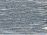 Dark Gray Metallic Glass Seed Beads - 11/0 (SB151)