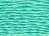 Turquoise Green Glass Seed Beads - 11/0 (SB155)