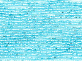 Aqua Blue Silver Line Glass Seed Beads - 11/0 (SB163)