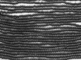 Black Matte Glass Seed Beads - 11/0 (SB167)