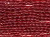 Cranberry Red Glass Seed Beads - 10/0 (SB187)