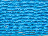 Medium Blue Glass Seed Beads - 10/0 (SB203)