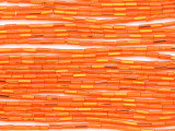 Orange Glass Seed Beads - Bugle (SB208)