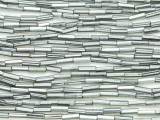 Silver Gray Glass Seed Beads - Bugle (SB213)