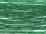 Pine Green Glass Seed Beads - Bugle (SB215)