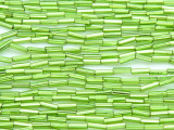 Lime Green Glass Seed Beads - Bugle (SB217)