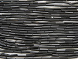 Black Glass Seed Beads - Bugle (SB218)