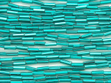 Teal Blue Glass Seed Beads - Bugle (SB219)