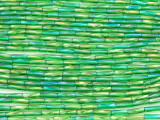 Green AB Glass Seed Beads - Bugle (SB220)