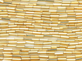 Gold Glass Seed Beads - Bugle (SB221)