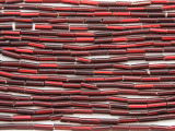 Dark Cranberry Red Glass Seed Beads - Bugle (SB222)