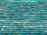 Teal Blue AB Glass Seed Beads - Bugle (SB224)