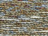 Brass Gunmetal Twist Glass Seed Beads - Bugle (SB228)