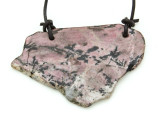 Rhodonite Gemstone Slab Pendant (GSP1793)