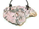 Rhodonite Gemstone Slab Pendant (GSP1794)