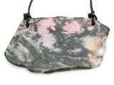 Rhodonite Gemstone Slab Pendant (GSP1801)