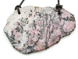 Rhodonite Gemstone Slab Pendant (GSP1803)