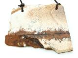 Picture Jasper Gemstone Slab Pendant (GSP1808)