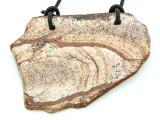 Picture Jasper Gemstone Slab Pendant (GSP1812)