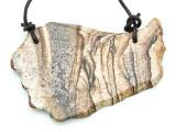 Picture Jasper Gemstone Slab Pendant (GSP1817)