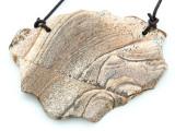 Picture Jasper Gemstone Slab Pendant (GSP1819)
