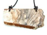 Picture Jasper Gemstone Slab Pendant (GSP1820)