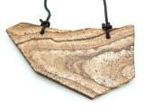 Picture Jasper Gemstone Slab Pendant (GSP1821)