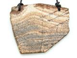 Picture Jasper Gemstone Slab Pendant (GSP1823)