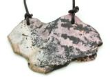 Rhodonite Gemstone Slab Pendant (GSP1792)