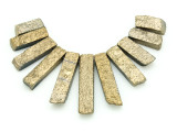 Gold Electroplated Quartz Gemstone Pendants - Set of 11 (GSP1757)