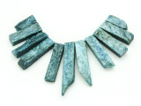 Teal Quartz Gemstone Pendants - Set of 11 (GSP1775)