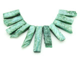 Green Quartz Gemstone Pendants - Set of 11 (GSP1780)