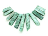 Green Quartz Gemstone Pendants - Set of 11 (GSP1782)