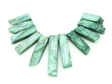 Green Quartz Gemstone Pendants - Set of 11 (GSP1785)