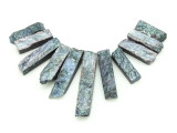 Purple Gray Quartz Gemstone Pendants - Set of 11 (GSP1790)