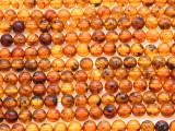 Genuine Amber Round Beads 4-5mm (AB79)