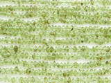 Peridot Saucer Gemstone Beads 2-3mm (GS4369)