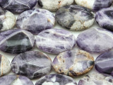 Cape Amethyst Oval Tabular Gemstone Beads 25mm (GS4386)