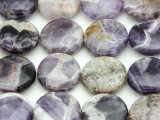 Cape Amethyst Round Tabular Gemstone Beads 20mm (GS4388)