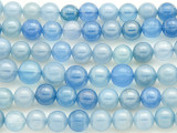 Blue Chalcedony Round Gemstone Beads 6-8mm (GS4406)