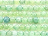 Green Chalcedony Faceted Round Gemstone Beads 6-8mm (GS4407)