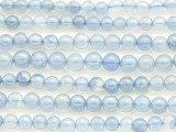 Blue Chalcedony Round Gemstone Beads 4-6mm (GS4409)