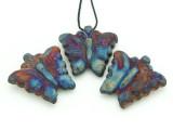Butterfly Raku Ceramic Pendant 43mm - Peru (CER147)