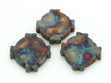 Celtic Cross Raku Ceramic Bead 19mm - Peru (CER148)