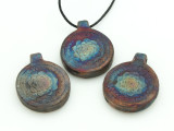 Lotus Raku Ceramic Pendant 35mm - Peru (CER149)