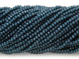Teal Blue Crystal Glass Beads 2mm (CRY428)