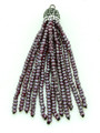 Purple Crystal Glass Beaded Tassel (CRY401)