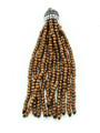 Copper Crystal Glass Beaded Tassel (CRY402)